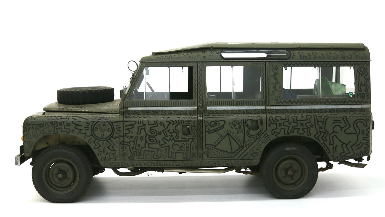 Land Rover art car by Keith Haring