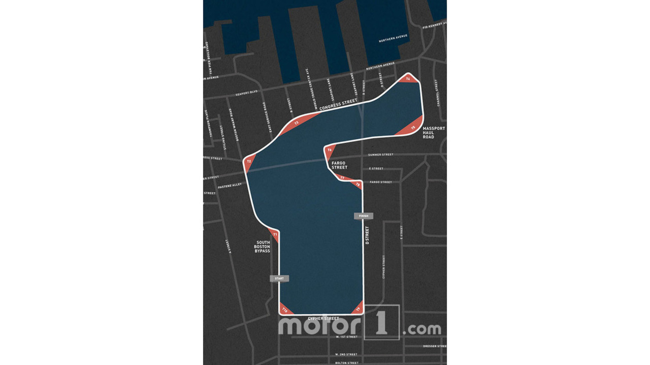 Map route for IndyCar's Boston Grand Prix