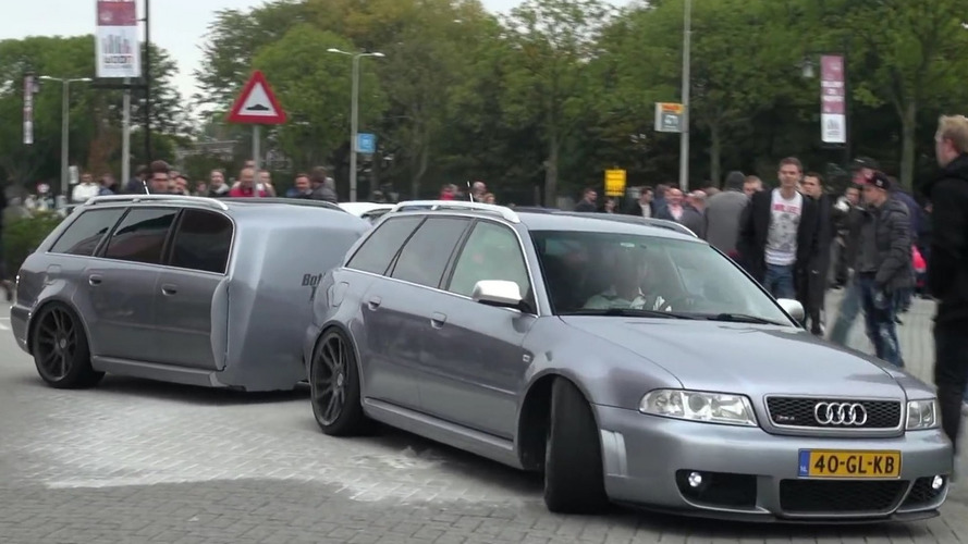 Someone made a matching trailer for this old Audi RS4 Avant [video]