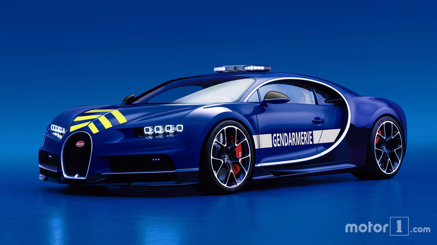 Bugatti Chiron Gendarmerie Française