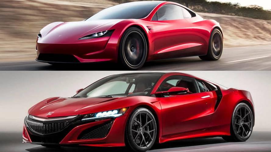 Tesla Roadster, Acura NSX'in kopyası mı?