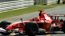 Michael Schumacher in Ferrari F1 Car