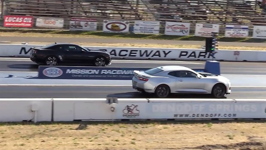 Old Vs New: 2013 Chevy Camaro ZL1 Drag Races 2018 Model