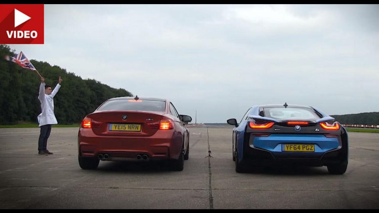 Futuro x presente: BMW i8 desafia M4 numa prova de arrancada - vídeo