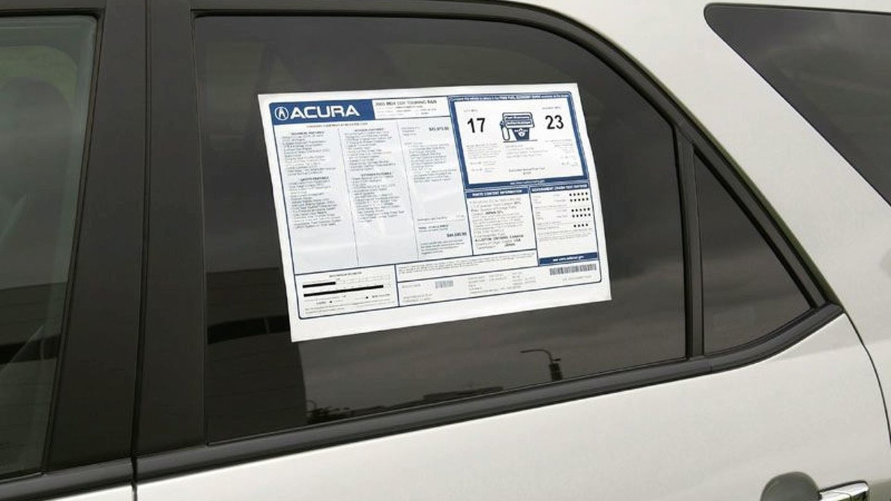 Honda - Acura Window Sticker