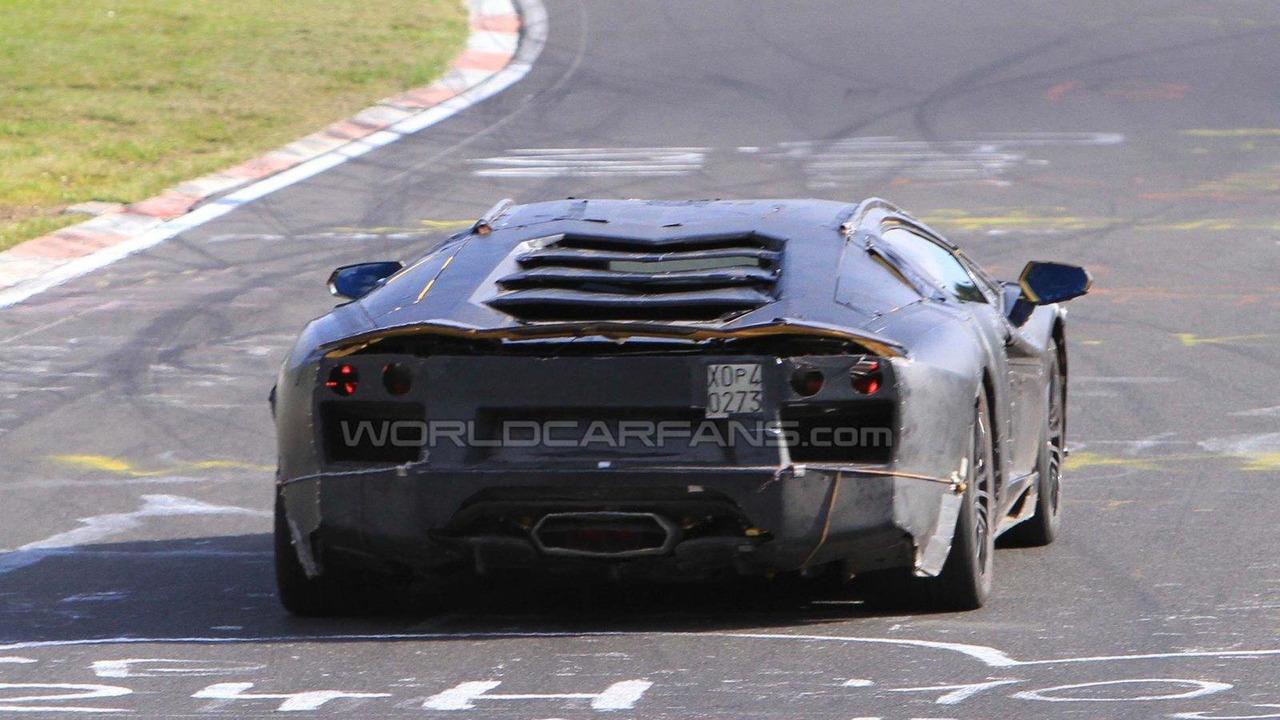 Lamborghini Jota Superleggera prototype at Nurburgring spy photo 21.09.2010