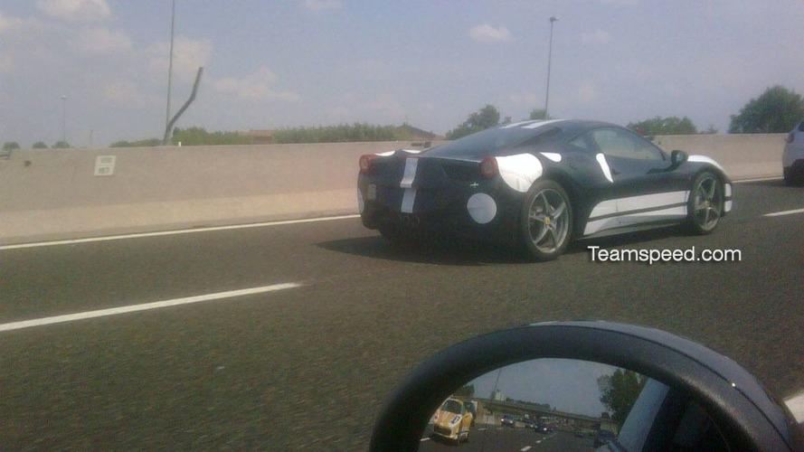 Ferrari 458 Italia spotted again on the road