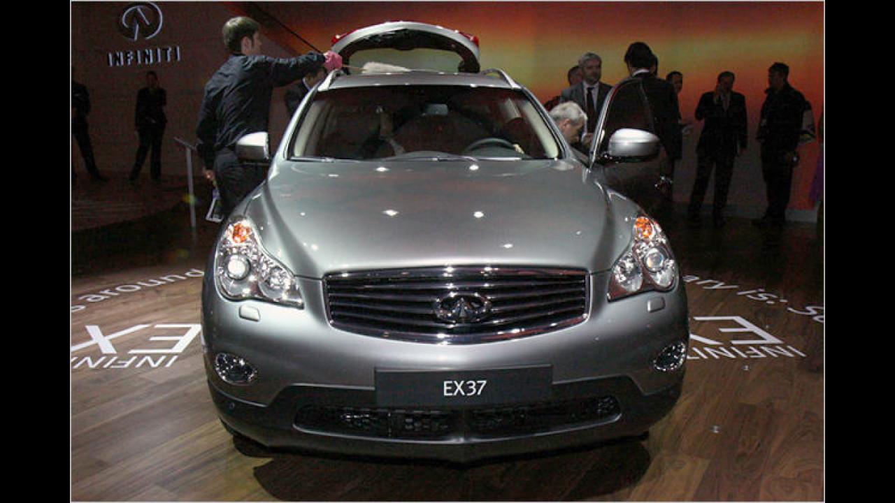 Infiniti EX: Die Nobelmarke von Nissan bringt ein schickes Coupé-SUV nach Genf