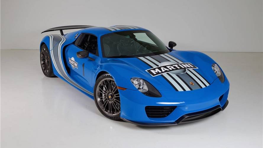Porsche 918 Voodoo Blue a subasta