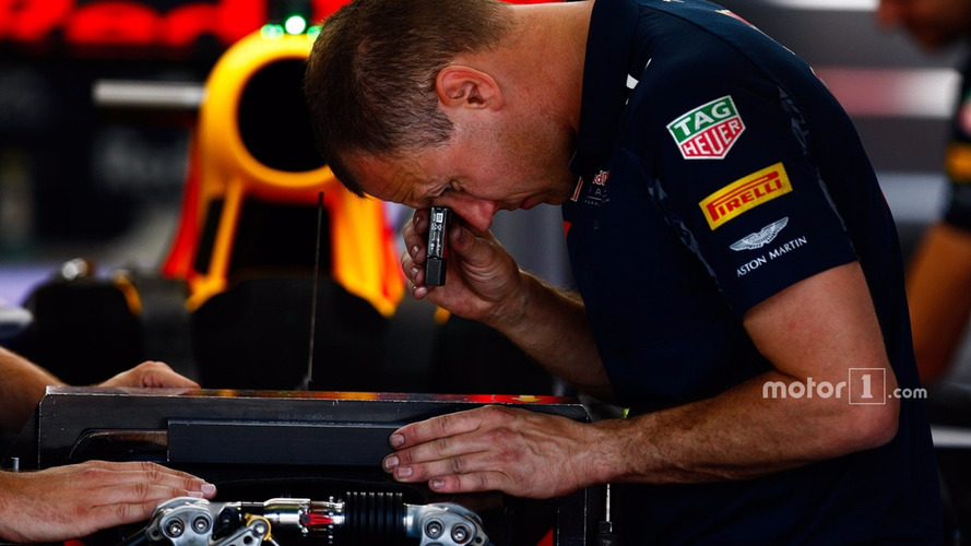 Red Bull Racing mechanic at work