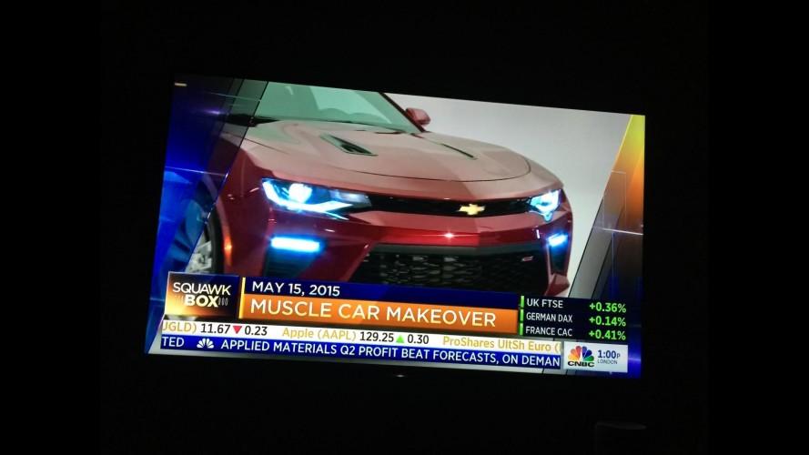 Escapou! Novo Camaro 2016 surge em programa de TV antes do lançamento