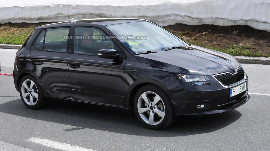 2015 Skoda Fabia spied with minimal disguise