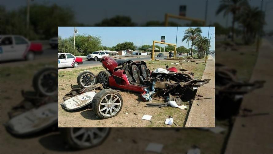 Koenigsegg CCX ölümcül kazada paramparça oldu