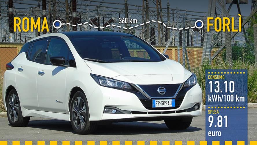 Nuova Nissan Leaf, la prova dei consumi reali