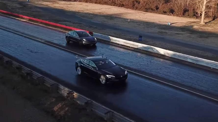 Tesla Model 3, Model S 75D ve P100D ile yarışıyor