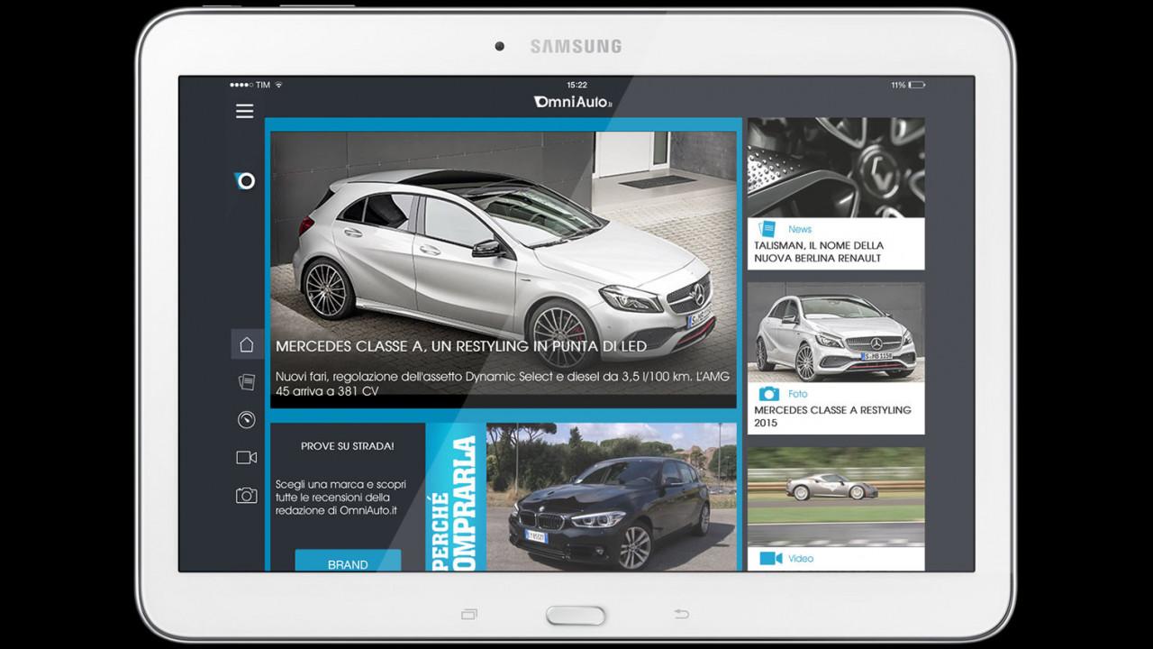 La app per tablet di OmniAuto.it