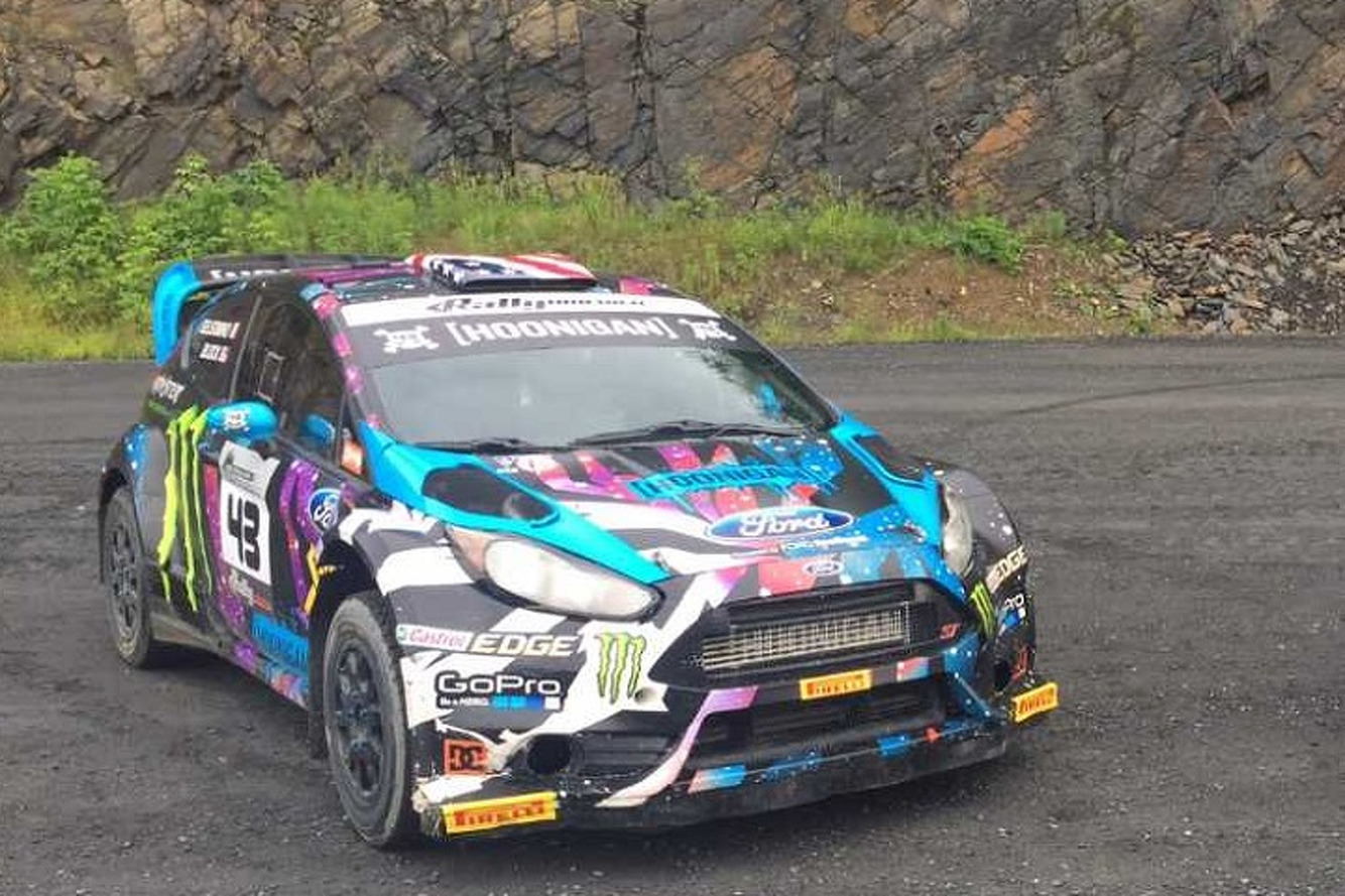 buy ken block 39 s ford fiesta rally car and make your own gymkhana. Black Bedroom Furniture Sets. Home Design Ideas