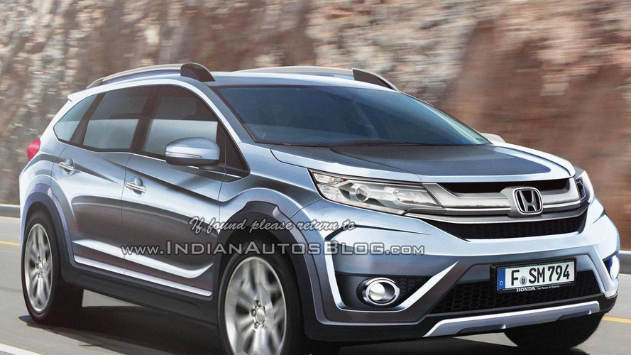 Honda BR-V seven-seat crossover rendered based on official sketch