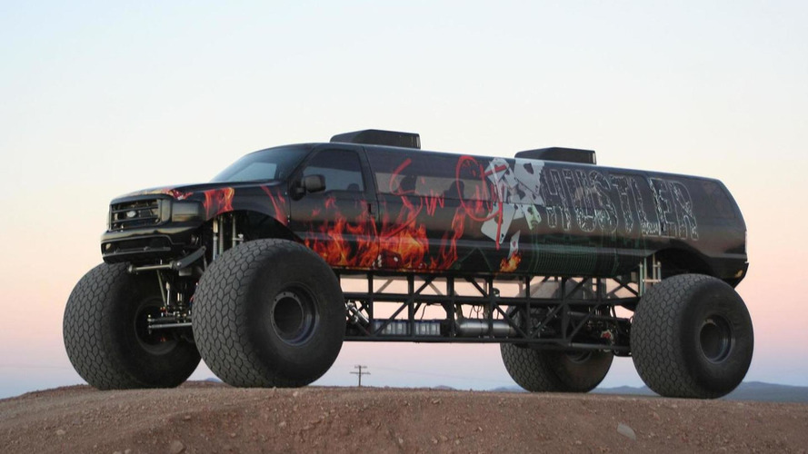 Stretched Ford Excursion monster truck on sale for $1 million [video]