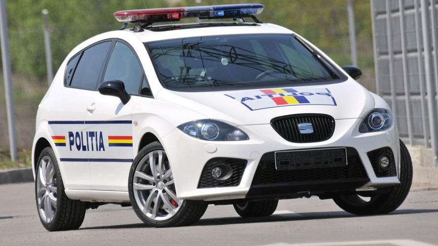 SEAT Leon Cupra Police Car Testing in Romania