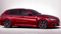 Alfa Romeo Giulia QV wagon render