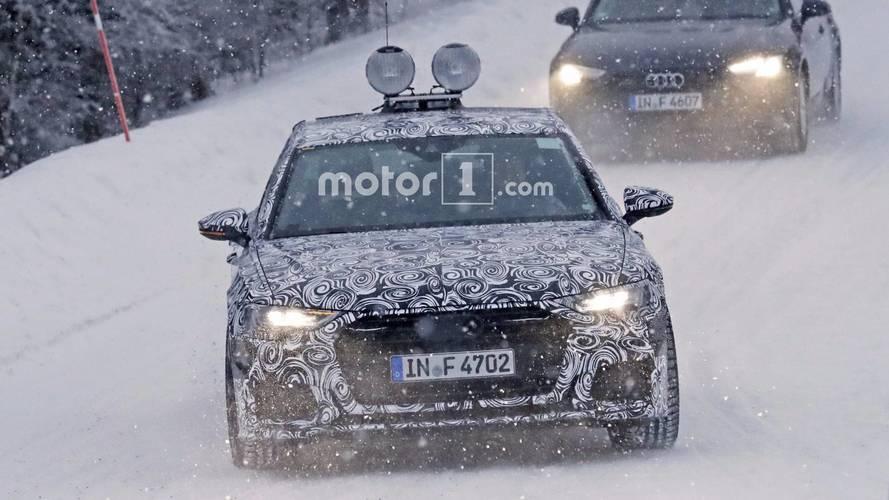 2019 Audi A6 üretim farları casus fotoğraflar