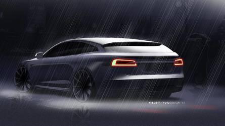 Újabb fotókon bukkant fel a Tesla Model S Shooting Brake