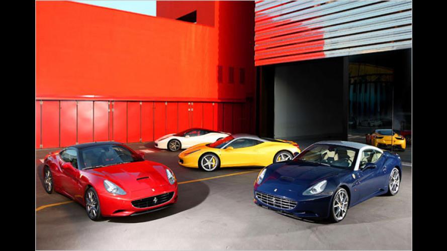 Ferrari verabschiedet sich langsam von seiner roten Farbe