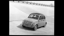 Fiat 500 Abarth sulla pista di Monza (1958)