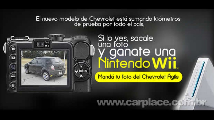 Na Argentina: Chevrolet dará um Nintendo Wii para quem flagrar o Novo Agile