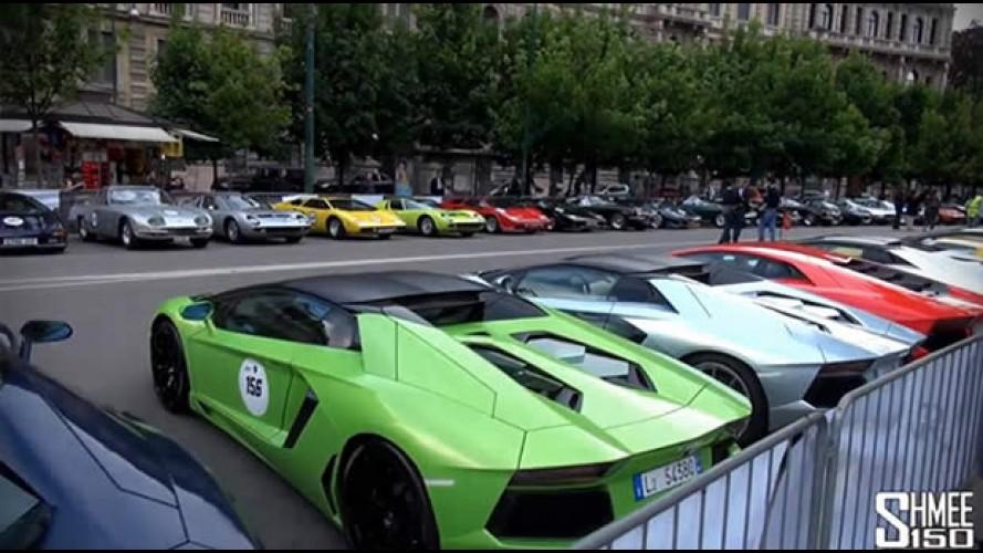 Vídeo: encontro de 50° aniversário reúne 350 Lamborghinis