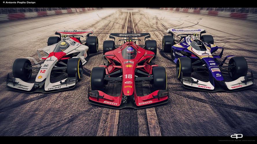 Une vision de la F1 du futur, avec des livrées emblématiques !