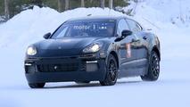 Porsche electrified test mule spy photo