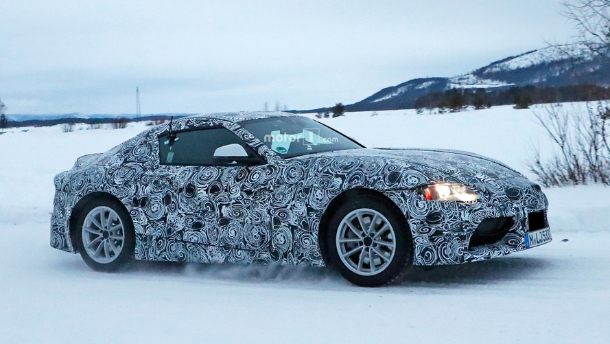 Photos espion - La nouvelle Toyota Supra en cours d'essais sur la neige