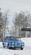 Quatre Renault 8 Gordini au Rallye Monte-Carlo Historique 2017