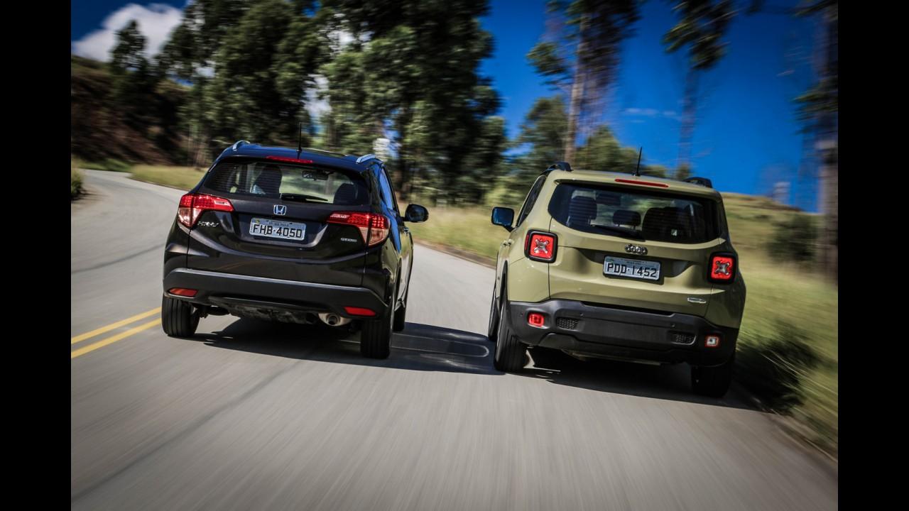 SUVs/crossovers: Renegade e HR-V batem recordes de vendas em novembro