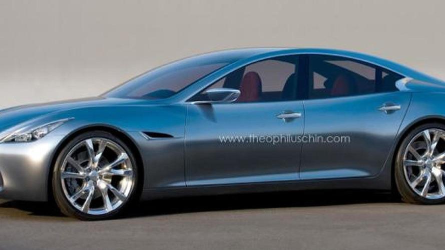 Infiniti four-door coupe rendered