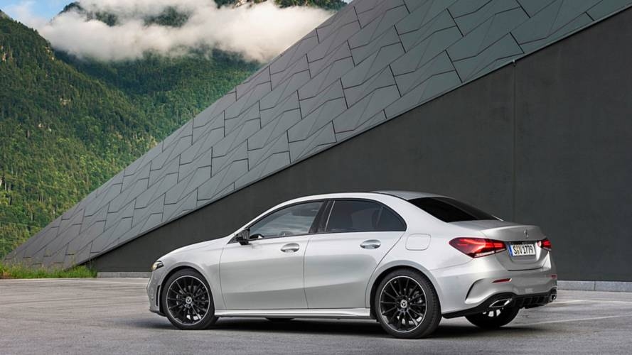 2019 mercedes a class sedan blends sleek styling with lots of tech. Black Bedroom Furniture Sets. Home Design Ideas