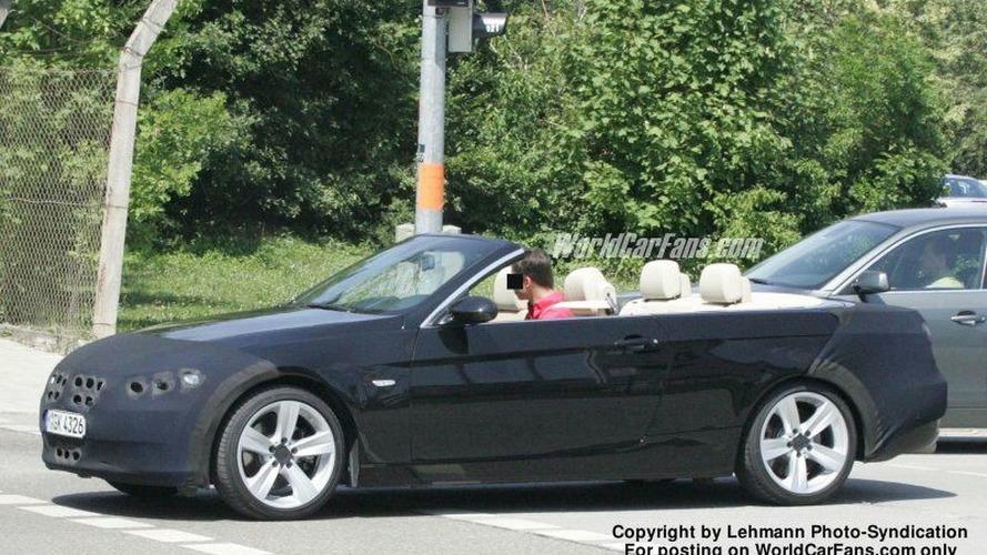 SPY PHOTOS: BMW 3-Series Cabrio Top Down