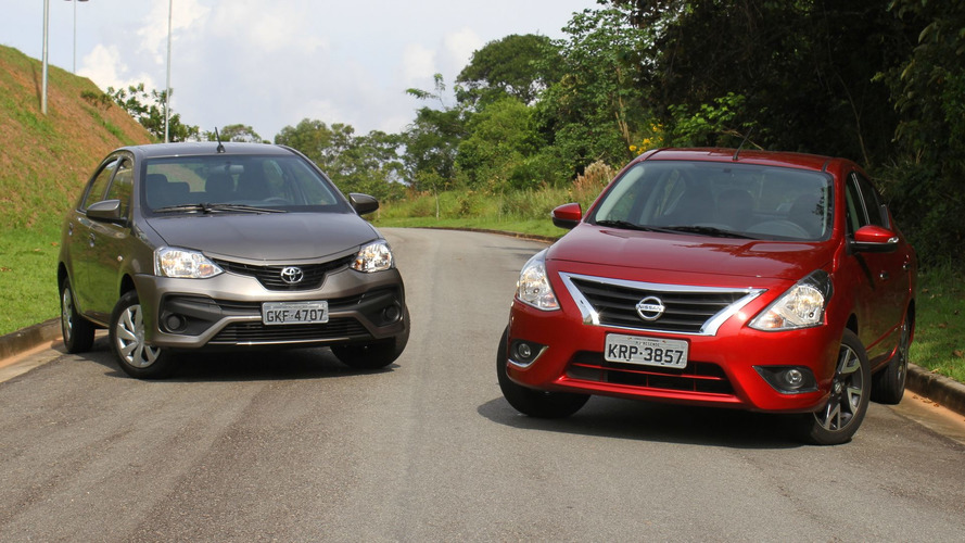Comparativo Toyota Etios Sedan AT x Nissan Versa CVT - Espaço e conforto sem gastar muito