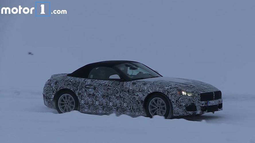 BMW Z5 buz üzerinde hünerlerini sergiliyor