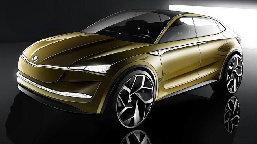 Skoda Vision E Concept SUV-Coupe Previews Firm's EV Future