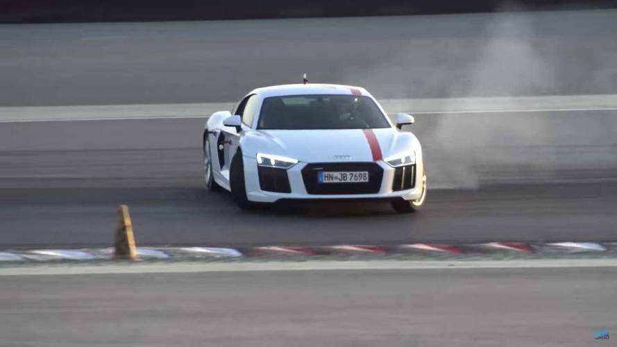 Audi R8 RWS'i Dubai'de yanlarken izleyin