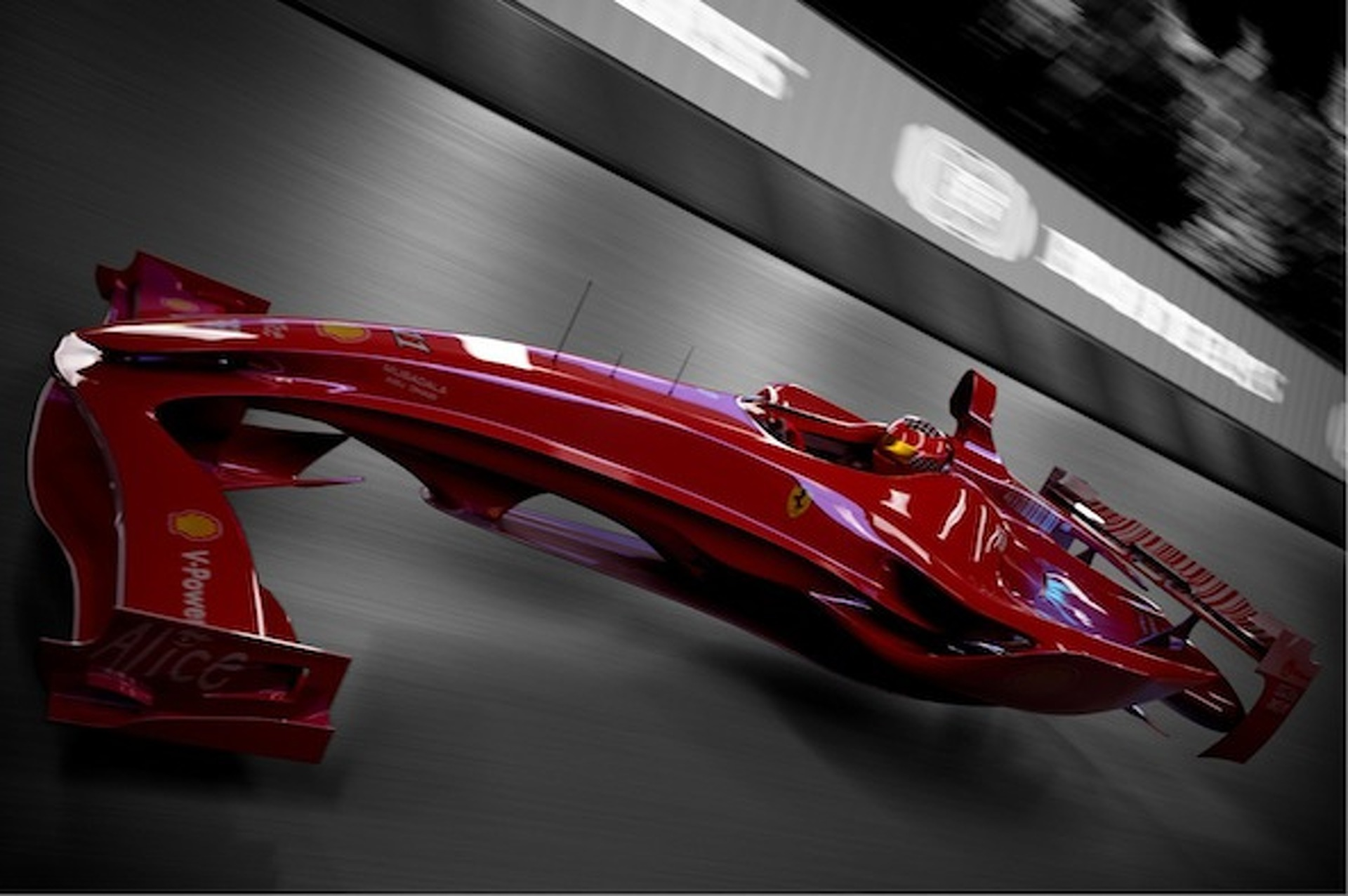 ferrari f1 hovercar concept foreshadows the future of motor racing. Black Bedroom Furniture Sets. Home Design Ideas