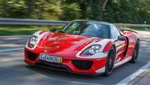Mark Webber takes delivery of Porsche 918 Spyder