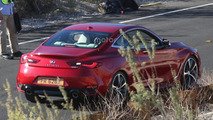 Infiniti Q60 Coupe spied undisguised during a photo shoot