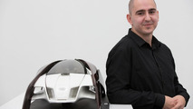 """Design student Robert Mucska from the Academy of Fine Arts and Design in Bratislava with his """"Wood Aerodynamics"""" concept 26.11.2012"""