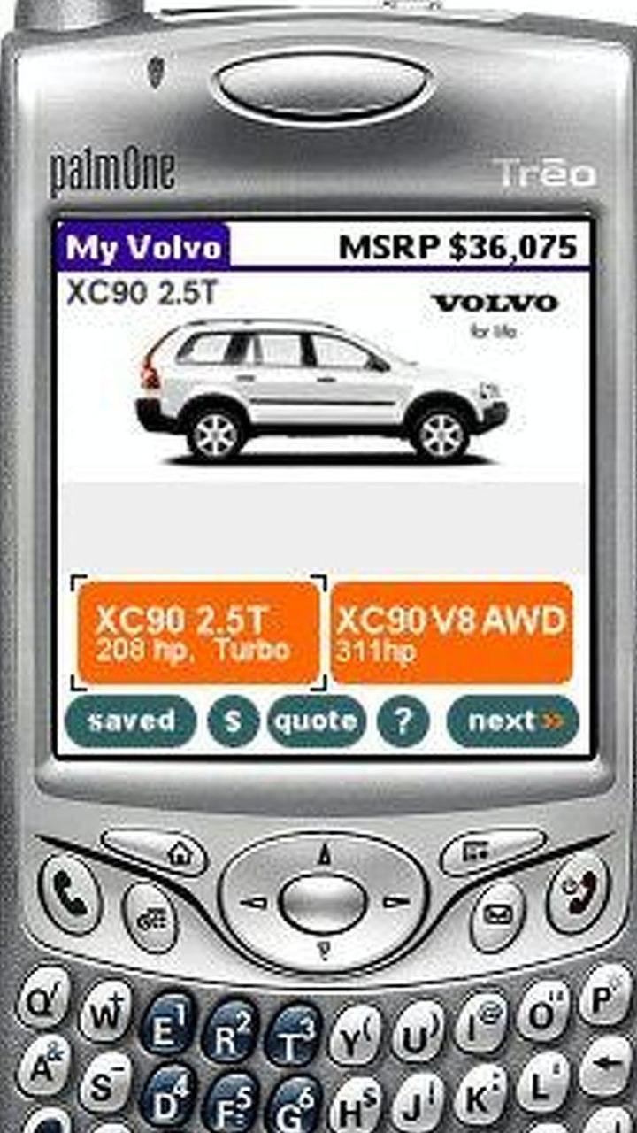 Volvo Vehicle Configurator on Handheld