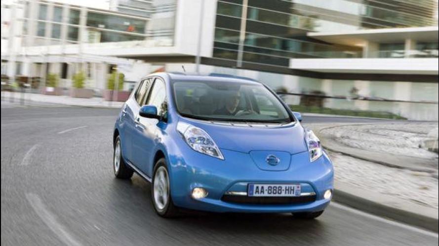 Nissan Leaf scende in pista all'Autodromo di Monza