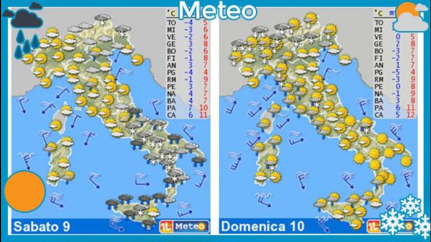 Il meteo del fine settimana 9 e 10 febbraio: è freddo artico